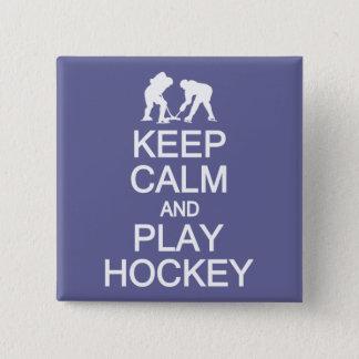 Keep Calm & Play Hockey custom color button