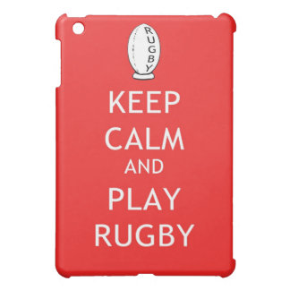 Keep Calm & Play Rugby iPad Mini Cover