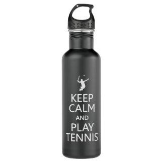 Keep Calm & Play Tennis custom 710 Ml Water Bottle