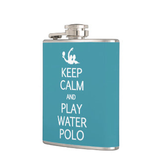 Keep Calm & Play Water Polo custom flask