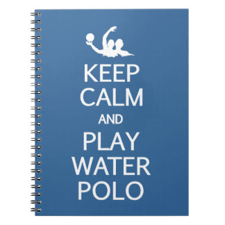 Keep Calm & Play Water Polo custom notebook