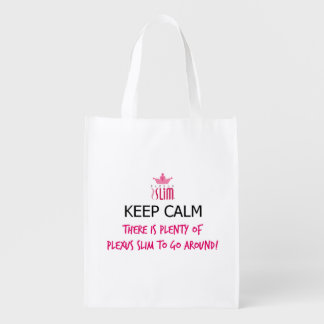 Keep Calm Plexus Slim Reusable Grocery Bags