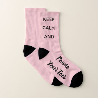 Keep Calm & Pointe Your Toes Ballet Dancer Socks 1