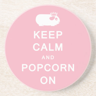Keep Calm & Popcorn On Coaster