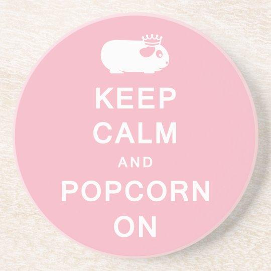 Keep Calm & Popcorn On Coaster