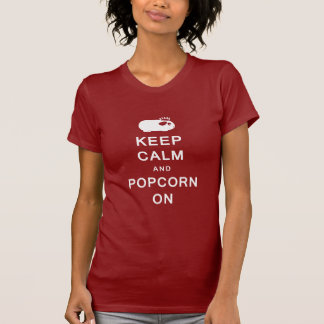 Keep Calm & Popcorn On Women's T-Shirt