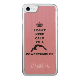 Keep Calm Powertumbler wood iphone6 Carved iPhone 7 Case