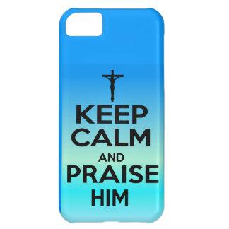 KEEP CALM PRAISE HIM iPhone 5C CASE