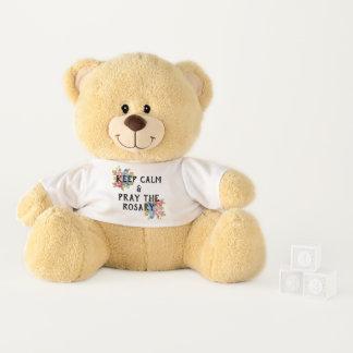 Keep Calm & Pray the Rosary Teddy Bear