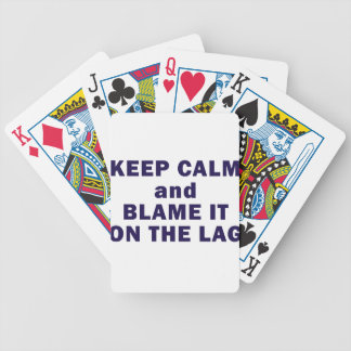 Keep Calm Purple Bicycle Playing Cards