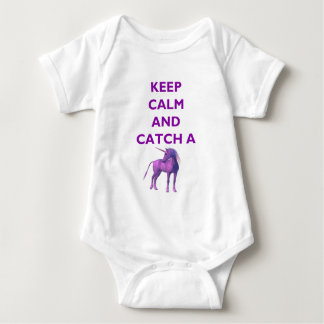 Keep Calm, Purple Unicorn Baby Jersey Bodysuit