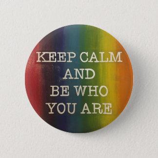 Keep Calm Rainbow Pride 2 Inch Round Button