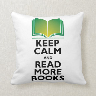 Keep Calm & Read More Books Pillow