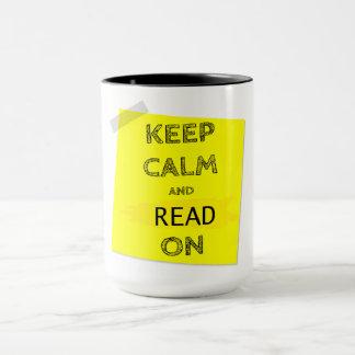 KEEP CALM & READ ON mUG