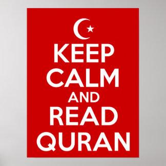 Keep Calm Read Quran Poster