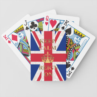 Keep calm & reign on bicycle playing cards