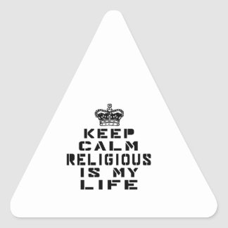 Keep calm Religious dance is my life Triangle Sticker