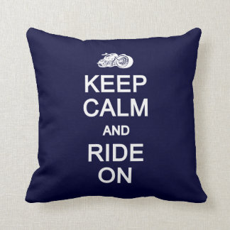 Keep Calm & Ride On custom pillow