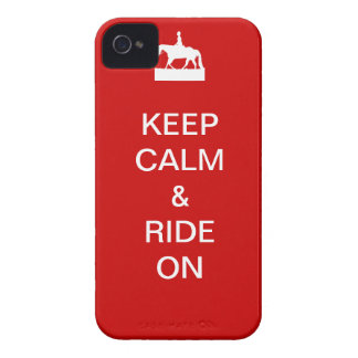Keep calm & ride on iPhone 4 case