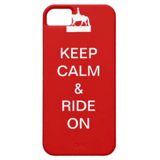 Keep calm & ride on iPhone 5 covers