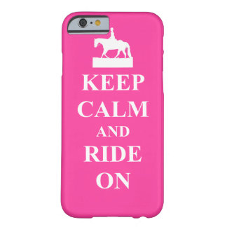 Keep calm & ride on (pink) barely there iPhone 6 case