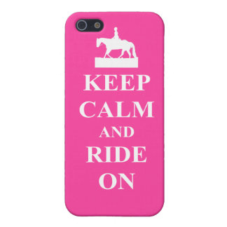 Keep calm & ride on (pink) iPhone 5/5S cover