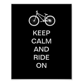 Keep Calm Ride On Poster