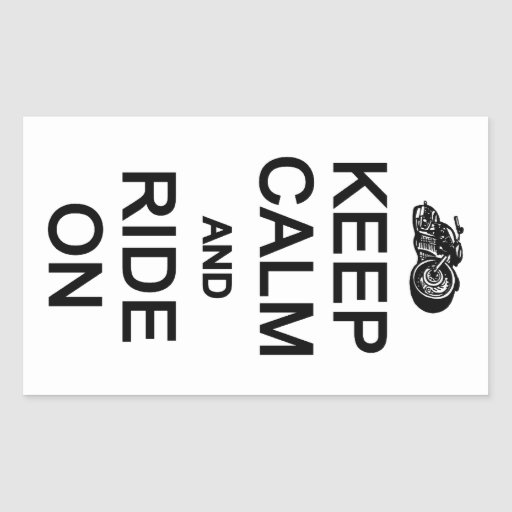 Keep Calm & Ride On stickers