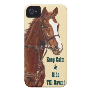 Keep Calm & Ride Till Dawn Horse iPhone 4 Case
