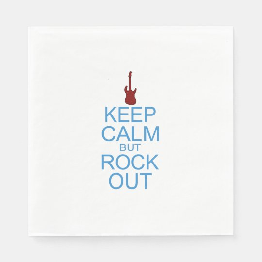 Keep Calm Rock Out - Parody Disposable Napkins