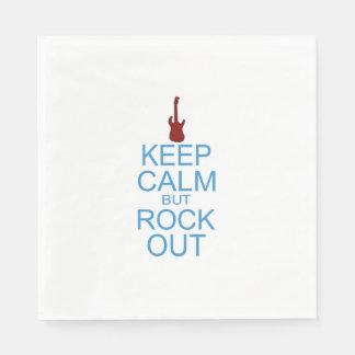 Keep Calm Rock Out - Parody Paper Napkin