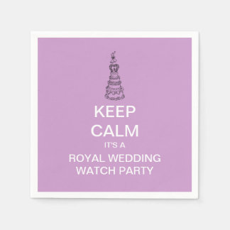 KEEP CALM Royal Wedding Watch Party Napkins