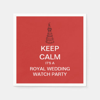 KEEP CALM Royal Wedding Watch Party Paper Napkins
