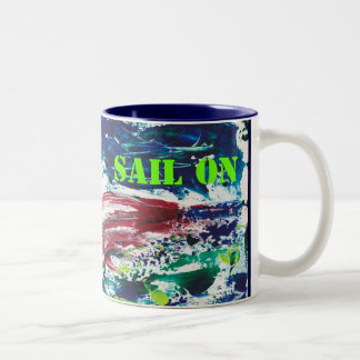 Keep Calm Sail On Mug