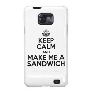 Keep Calm Sandwich Galaxy S2 Case