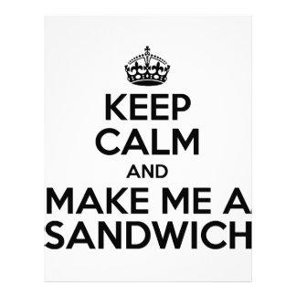 Keep Calm Sandwich Letterhead Design