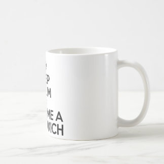 Keep Calm Sandwich Basic White Mug