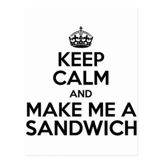 Keep Calm Sandwich Postcard