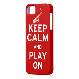 Keep Calm Saxophone iPhone 5 Case