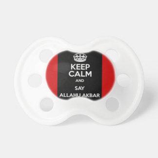 Keep Calm Say Allahu Akbar Baby Pacifier