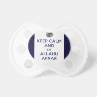 Keep Calm Say Allahu Akbar Pacifiers