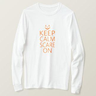 Keep Calm Scare On Pumpkin Face Unisex Tee
