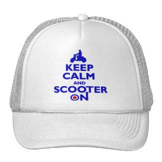 keep Calm Scooter On (blue) Mens cap Trucker Hat