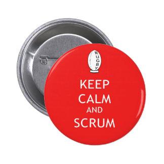 Keep Calm & Scrum 2 Inch Round Button