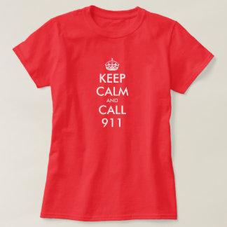 Keep Calm shirt for women | Keep calm and call 911