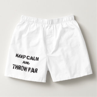 Keep Calm Shot Put Discus Hammer Throw Underwear Boxers