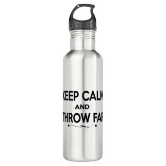 Keep Calm Shot Put Discus Hammer Water Bottle