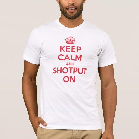 Keep Calm Shotput T-Shirt