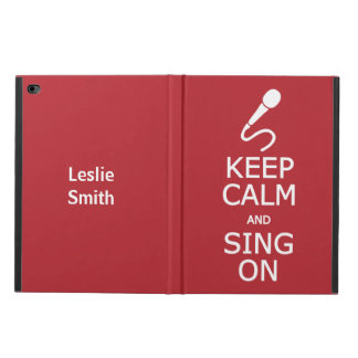 Keep Calm & Sing On custom name & color cases