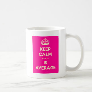 Keep-Calm-Size 12-Is-Average.pdf Coffee Mug
